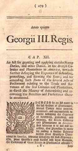 revolutionary war newspaper template - the stamp act